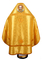 Russian Priest vestments - Rus' metallic brocade BG2 (yellow-gold) back, Standard design