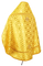 Russian Priest vestments - Novgorod Cross metallic brocade BG2 (yellow-gold) back, Standard design