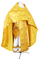 Russian Priest vestments - Novgorod Cross metallic brocade BG2 (yellow-gold), Standard design