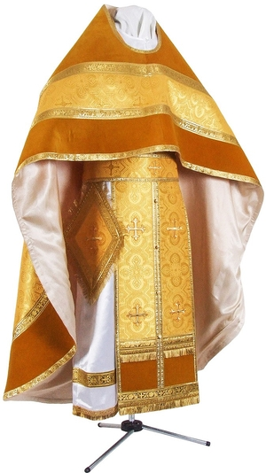 Russian Priest vestments - metallic brocade BG2 (yellow-gold)