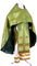 Russian Priest vestments - Milette metallic brocade BG2 (green-gold), Standard design