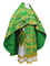 Russian Priest vestments - Paradise Garden metallic brocade BG2 (green-gold), Premium design