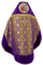 Russian Priest vestments - Nativity metallic brocade BG2 (violet-gold) with velvet inserts (back), Standard design