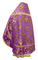 Russian Priest vestments - Paradise Garden metallic brocade BG2 (violet-gold) back, Premium design