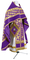 Russian Priest vestments - Novgorod Cross metallic brocade BG2 (violet-gold), Standard design