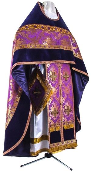 Russian Priest vestments - metallic brocade BG2 (violet-gold)