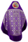 Russian Priest vestments - Nativity metallic brocade BG2 (violet-silver) back, Standard design