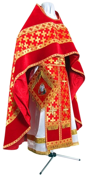 Russian Priest vestments - metallic brocade BG2 (red-gold)
