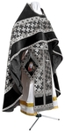 Russian Priest vestments - metallic brocade BG2 (black-silver)