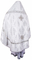 Russian Priest vestments - Bouquet metallic brocade BG2 (white-silver) back, Standard design