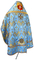 Russian Priest vestments - Greek Vine metallic brocade BG3 (blue-gold) back, Standard design