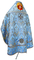 Russian Priest vestments - Greek Vine metallic brocade BG3 (blue-silver) back, Premium design