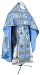 Russian Priest vestments - metallic brocade BG3 (blue-silver)