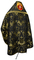 Russian Priest vestments - Greek Vine metallic brocade BG3 (black-gold) back, Premium design