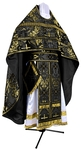 Russian Priest vestments - metallic brocade BG3 (black-gold)
