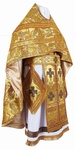 Russian Priest vestments - metallic brocade BG3 (yellow-claret-gold)