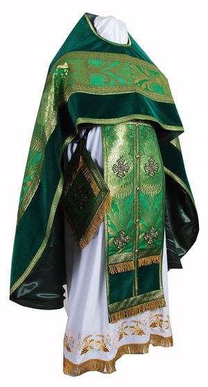 Russian Priest vestments - metallic brocade BG3 (green-gold)