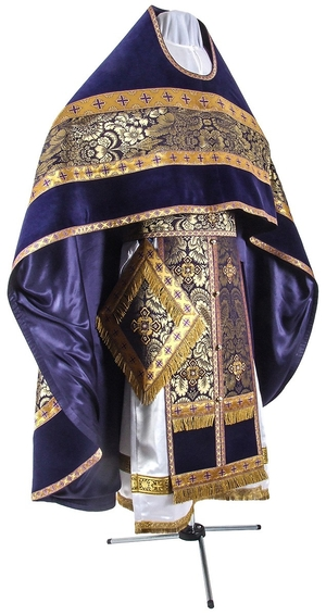 Russian Priest vestments - metallic brocade BG3 (violet-gold)