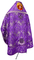 Russian Priest vestments - Greek Vine metallic brocade BG3 (violet-silver) back, Standard design