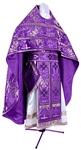 Russian Priest vestments - metallic brocade BG3 (violet-silver)