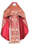 Russian Priest vestments - metallic brocade BG3 (red-gold)