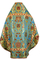 Russian Priest vestments - Vase metallic brocade BG4 (blue-gold) back, Standard design