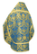 Russian Priest vestments - Eleon Bouquet metallic brocade BG4 (blue-gold) back, Premium design