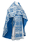 Russian Priest vestments - Eleon Bouquet metallic brocade BG4 (blue-silver), Premium design