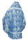 Russian Priest vestments - Eleon Bouquet metallic brocade BG4 (blue-silver) back, Premium design