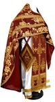 Russian Priest vestments - metallic brocade BG4 (claret-gold)