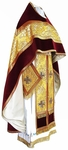 Russian Priest vestments - metallic brocade BG4 (yellow-claret-gold)