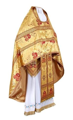 Russian Priest vestments - metallic brocade BG4 (yellow-gold)