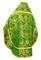 Russian Priest vestments - Eleon Bouquet metallic brocade BG4 (green-gold) back, Premium design