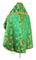 Russian Priest vestments - Antiokhiya metallic brocade BG4 (green-gold)  back, Premium design