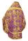 Russian Priest vestments - Eleon Bouquet metallic brocade BG4 (violet-gold) back, Premium design