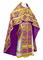 Russian Priest vestments - Eleon Bouquet metallic brocade BG4 (violet-gold), Premium design