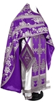 Russian Priest vestments - metallic brocade BG4 (violet-silver)