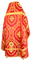 Russian Priest vestments - Patras metallic brocade BG4 (red-gold) back, Premium design