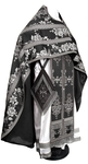 Russian Priest vestments - metallic brocade BG4 (black-silver)