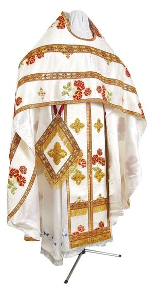 Russian Priest vestments - metallic brocade BG4 (white-gold)