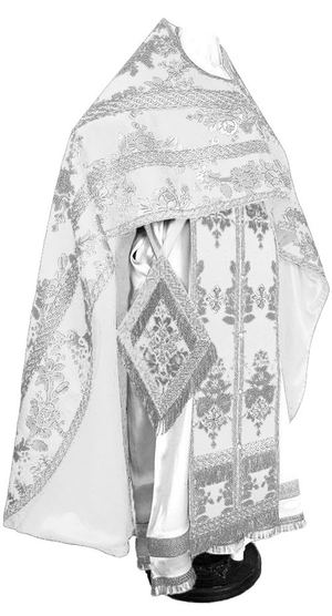Russian Priest vestments - metallic brocade BG4 (white-silver)