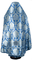 Russian Priest vestments - Eleon Bouquet metallic brocade BG5 (blue-silver) back, Premium design