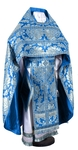 Russian Priest vestments - metallic brocade BG5 (blue-silver)