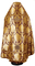 Russian Priest vestments - Eleon Bouquet metallic brocade BG5 (claret-gold) back, Premium design