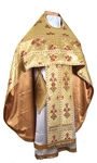Russian Priest vestments - metallic brocade BG5 (yellow-claret-gold)