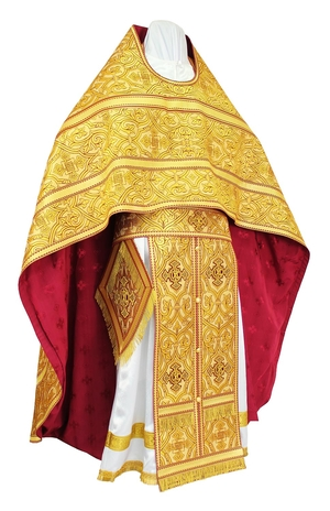 Russian Priest vestments - metallic brocade BG5 (yellow-gold)