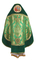 Russian Priest vestments - Vase metallic brocade BG5 (green-gold) back, Premium design