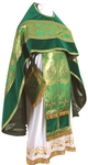 Russian Priest vestments - metallic brocade BG5 (green-gold)