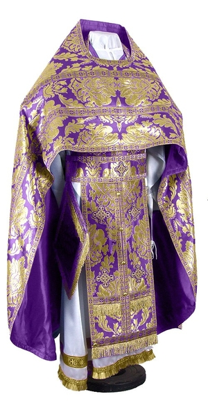 Russian Priest vestments - metallic brocade BG5 (violet-gold)