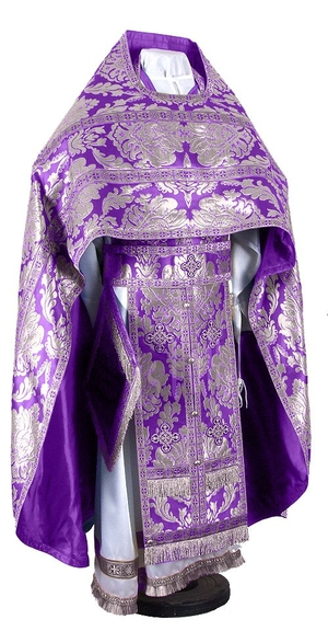 Russian Priest vestments - metallic brocade BG5 (violet-silver)